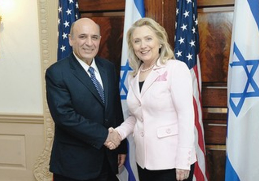 Shaul Mofaz and Hillary Clinton in Washington
