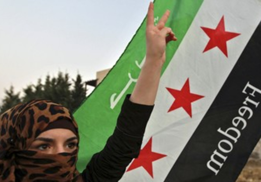 Syrian refugee opposing Assad rule