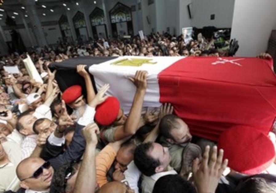 Omar Suleiman's funeral in Cairo