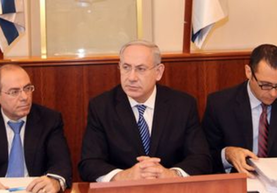 PM Binyamin Netanyahu at weekly cabinet meeting
