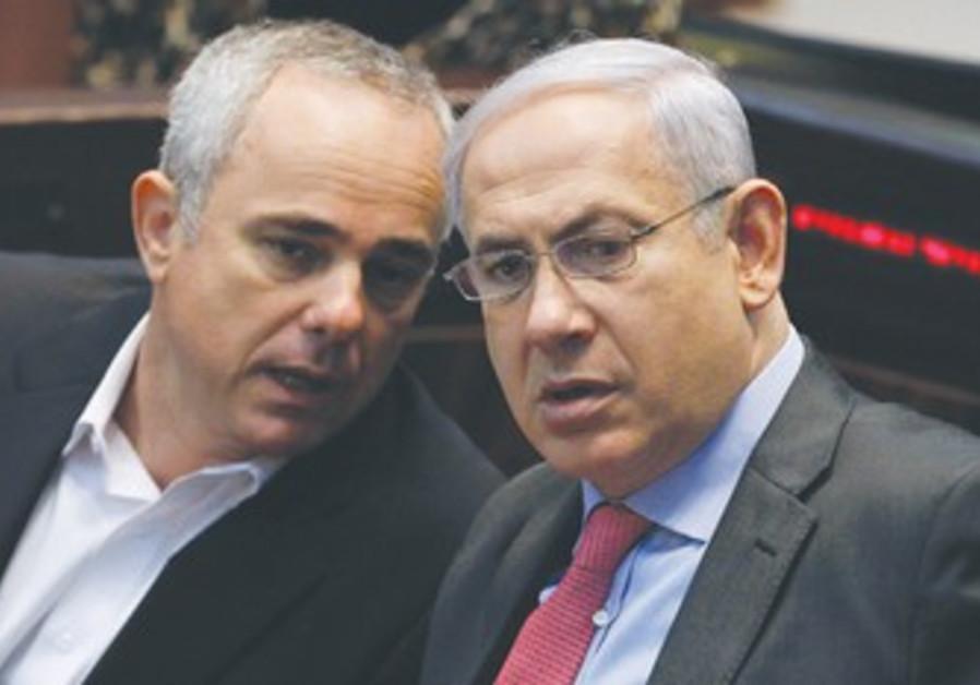 PM Binyamin Netanyahu with Yuval Steinitz