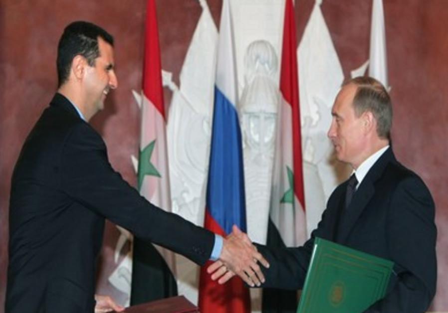 President Putin meets President Assad: File Photo