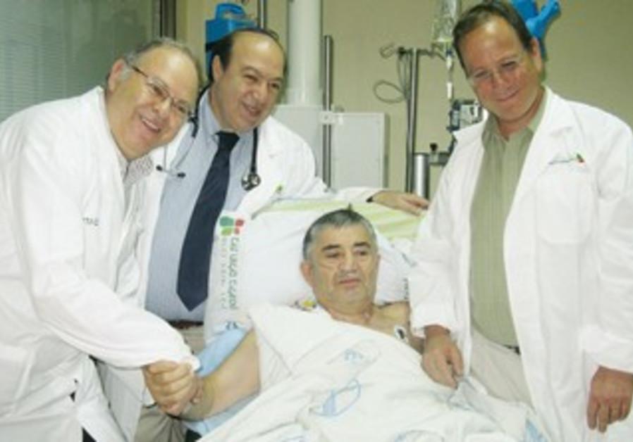 Doctors visit visit lung recipient  Merzeyev