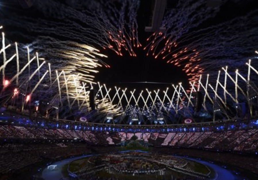 Fireworks at London Olympics opening ceremony