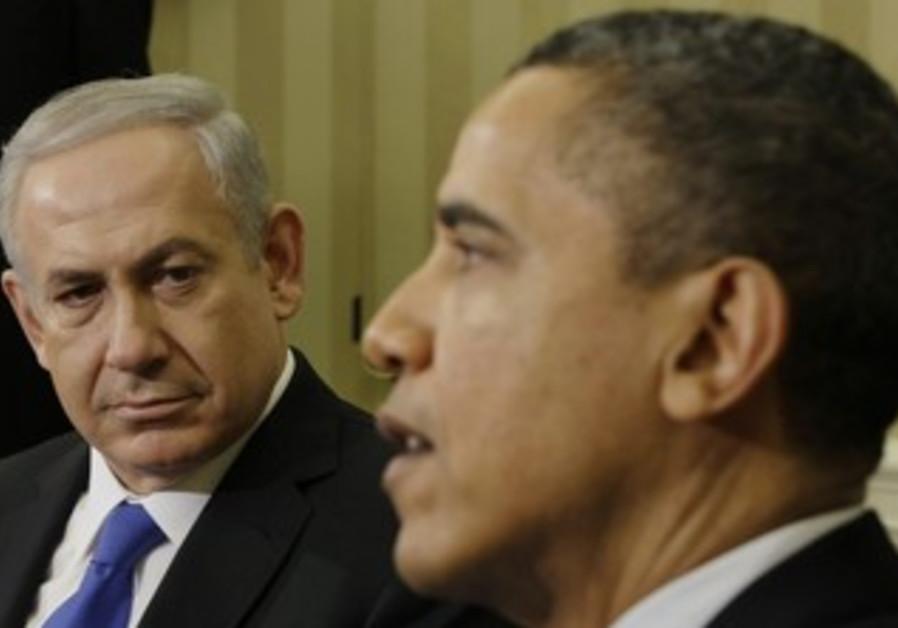 US President Obama, PM Netanyahu at White House