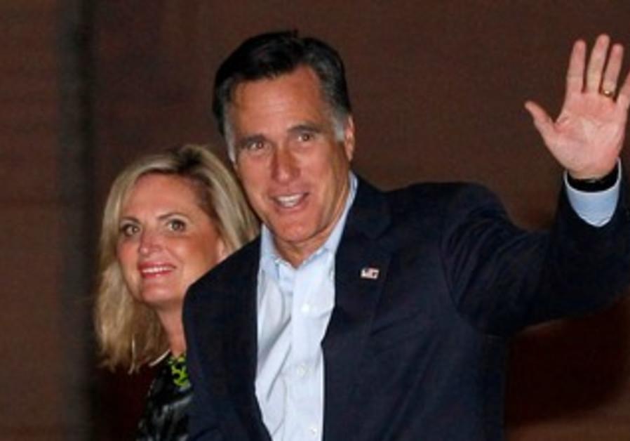 Mitt and Ann Romney arrive in Tel Aviv