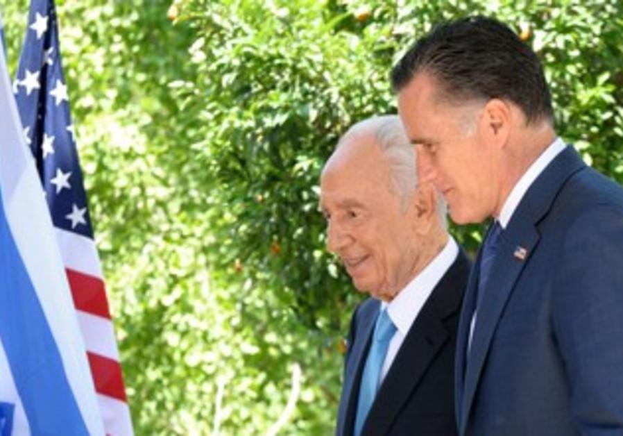 President Peres meets Mitt Romney in Jerusalem