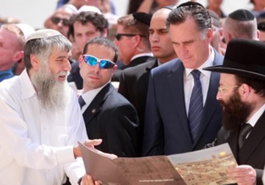 Mitt Romney in Jerusalem.