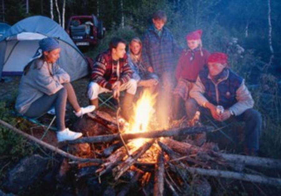 Children on summer camp (illustrative)