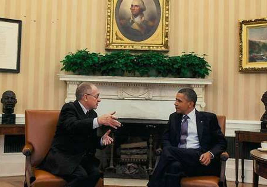 Dershowitz with Obama in oval office