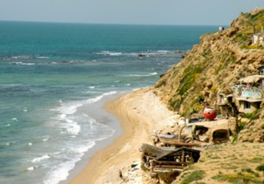 A cliff north of Herzliya