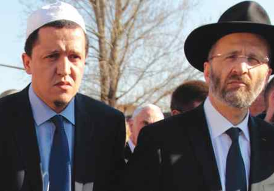 Hassen Chalghoumi et le Grand Rabbin de France.