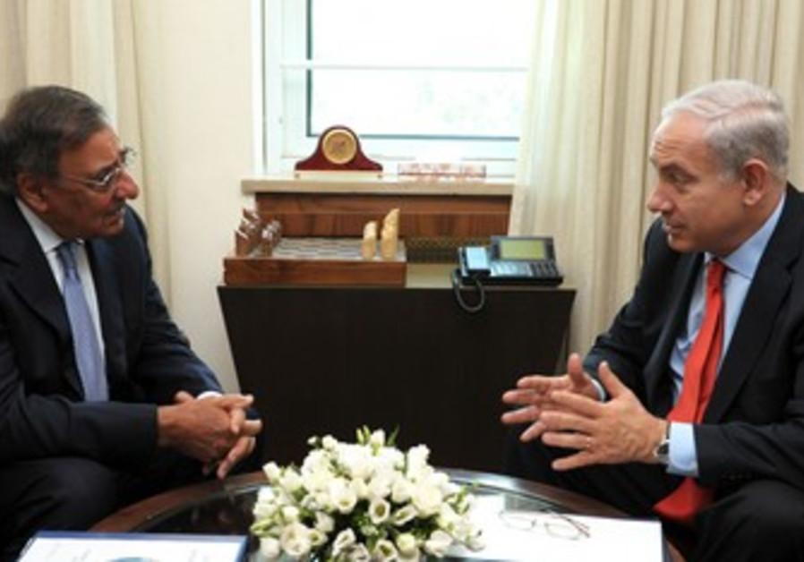 Leon Panetta and Binyamin Netanyahu.