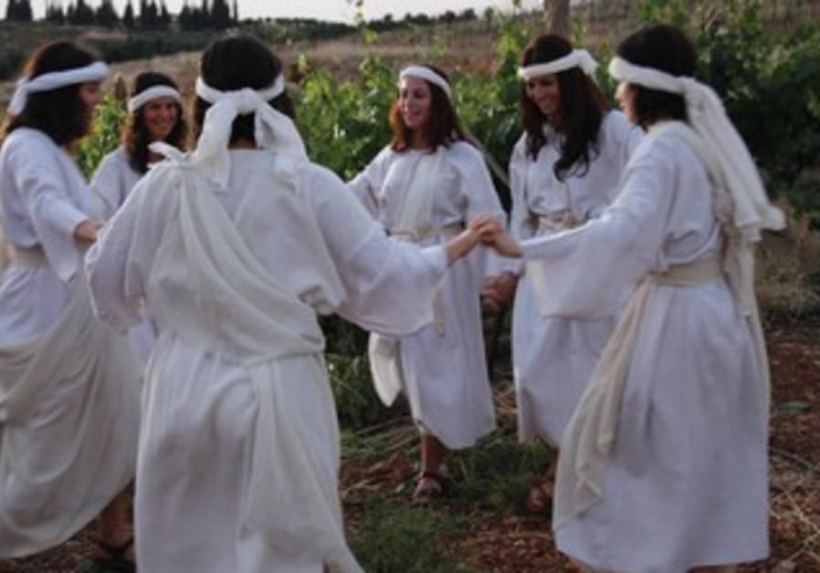 Dancing in the vinyards of  W.Bank village Shiloh