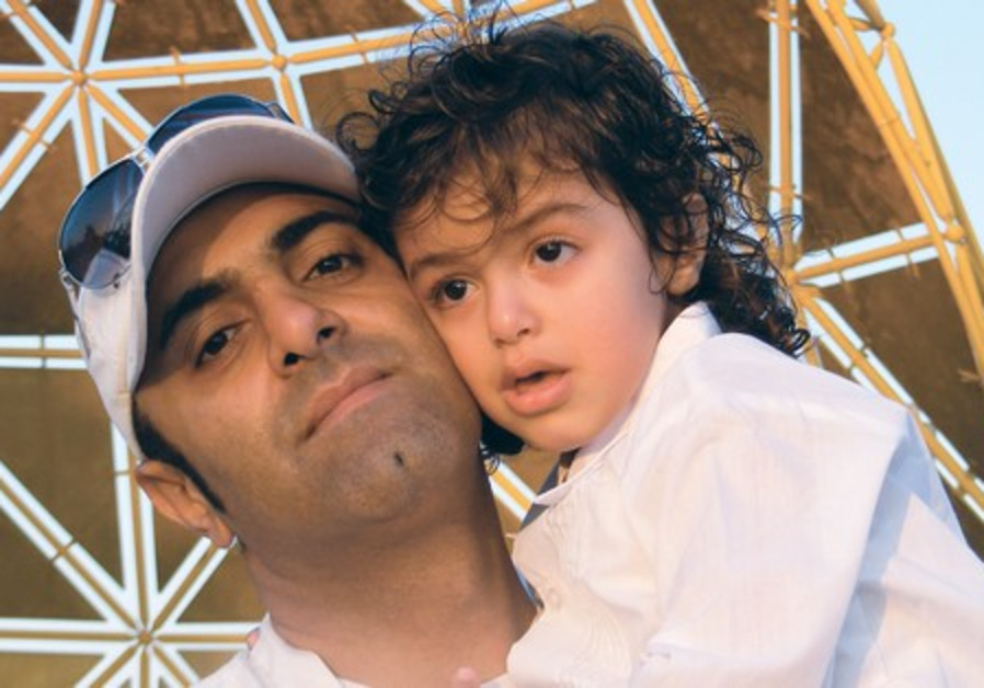 ALBERT SHALTIEL with his son, Ilai