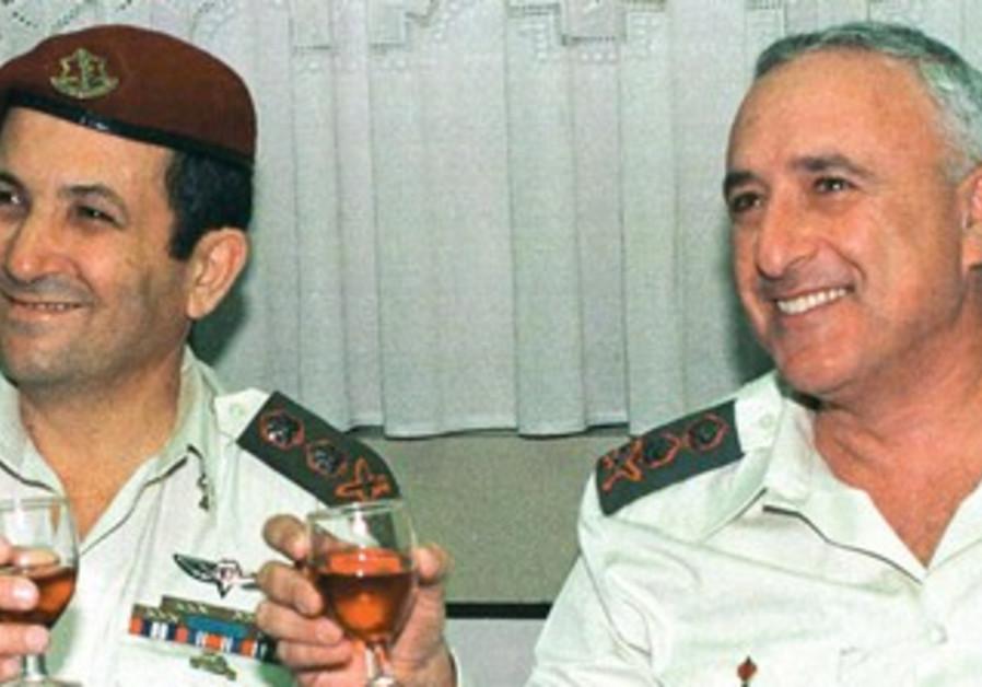 Ehud Barak at Military ceremony