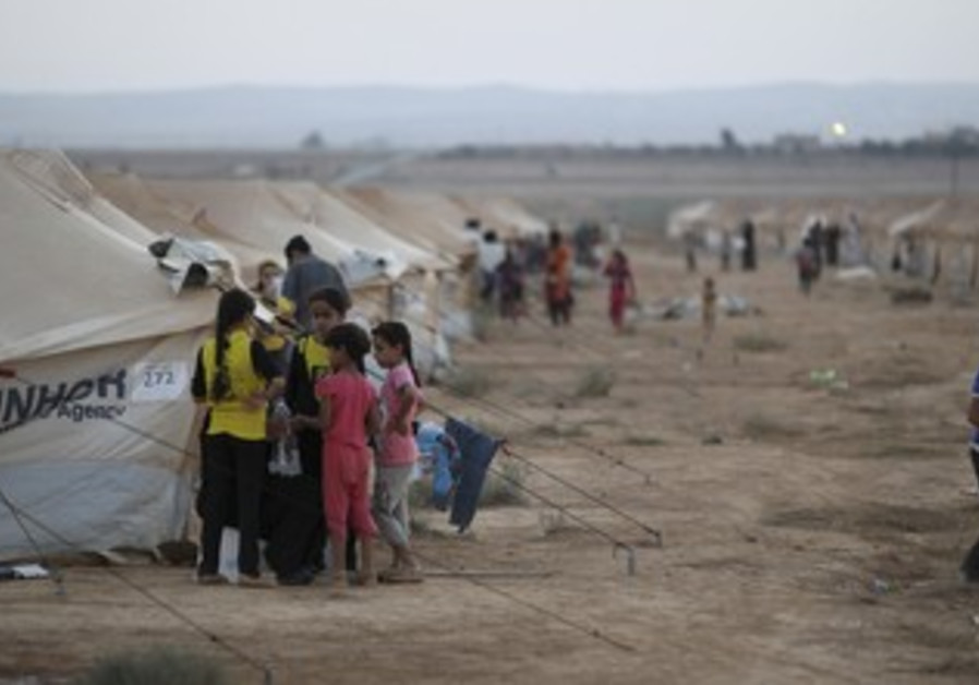Syrian refugees at the Zaatari camp in Jordan