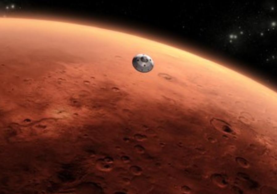 Artist's rendition of NASA Mars rover Curiosity