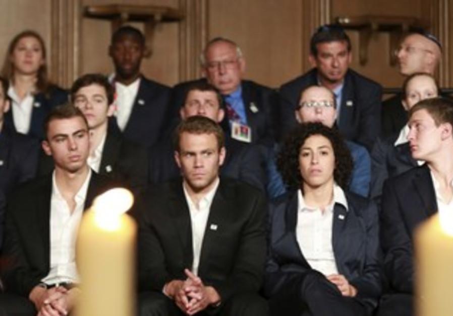 Israeli olympians at Munich memorial