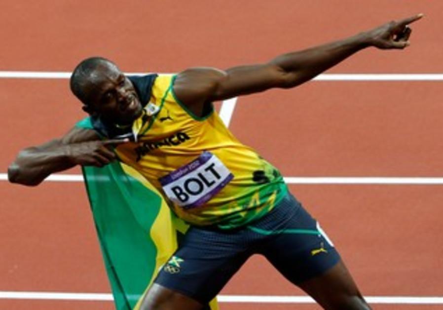 Usain Bolt after winning the 100m