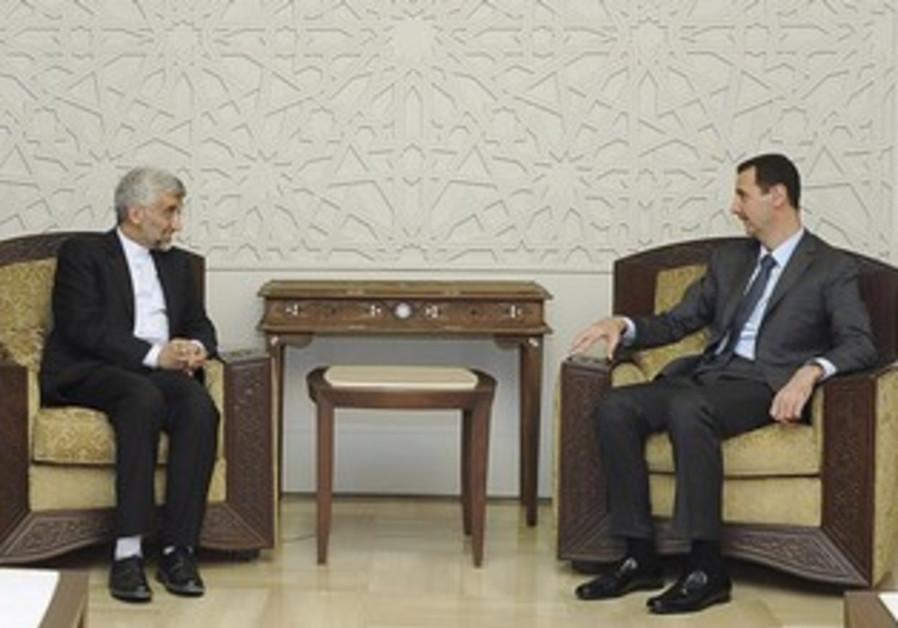 Syria's Assad meets Iran's Jalili