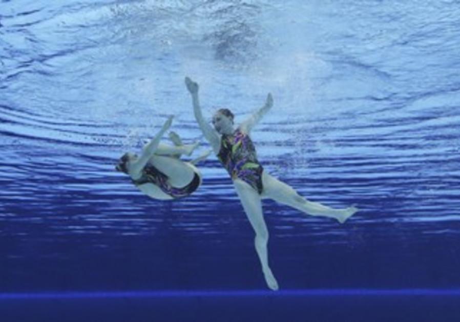 Synchronised swimmers A. Gloushkov,  I. Yoffe