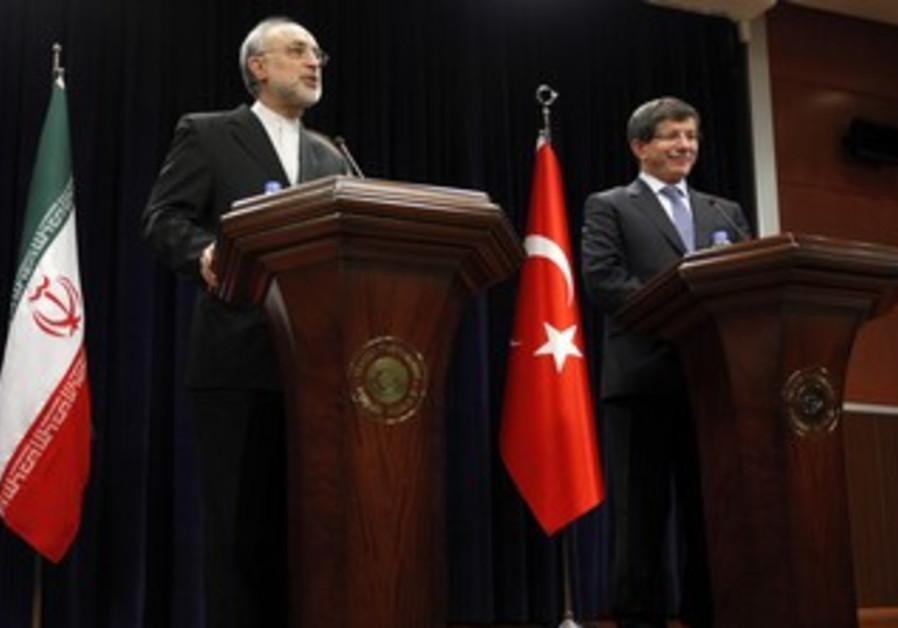 Iran FM Salehi with Turkish counterpart Salehi