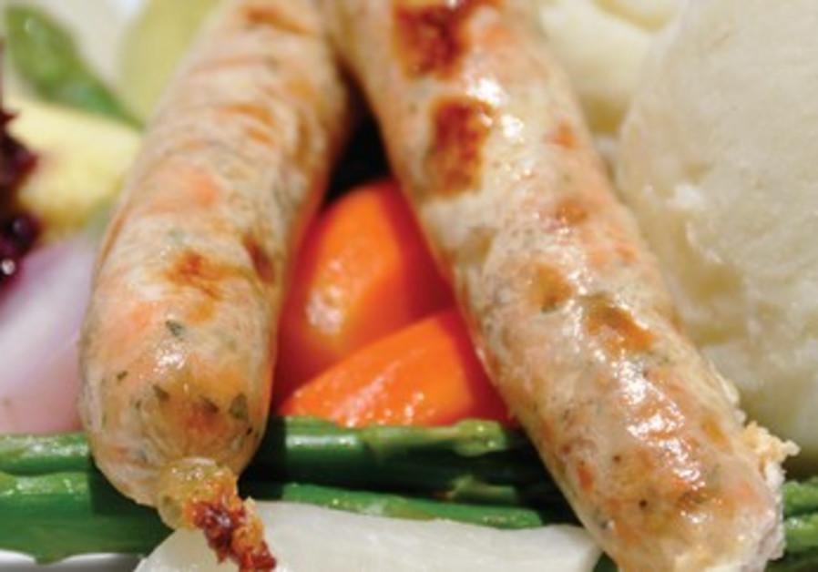 Tishbi speciality: handmade fish sausages