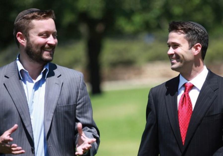 ARI ABRAMOWITZ (left) and Jeremy Gimpel