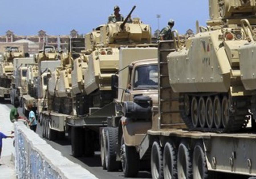 Egyptian tanks arriving in Sinai city of Rafah