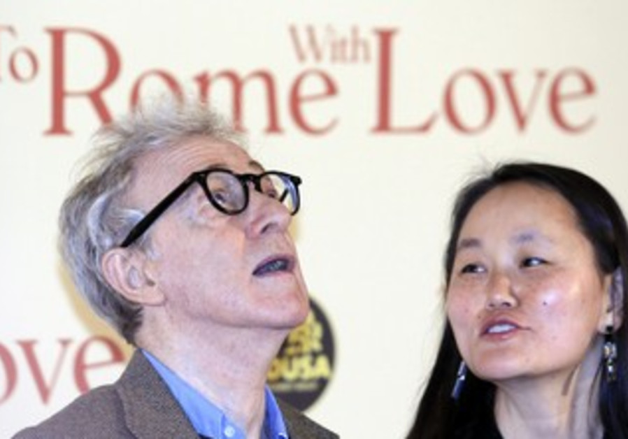 "Woody Allen and his wife; ""To Rome with Love"""