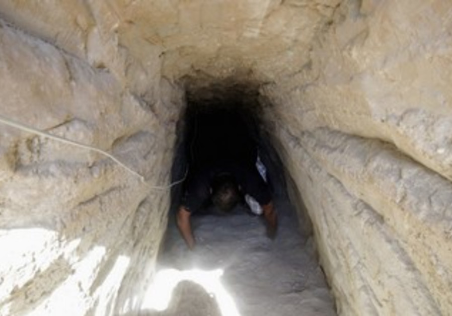 A tunnel linking Egypt and the Gaza Strip