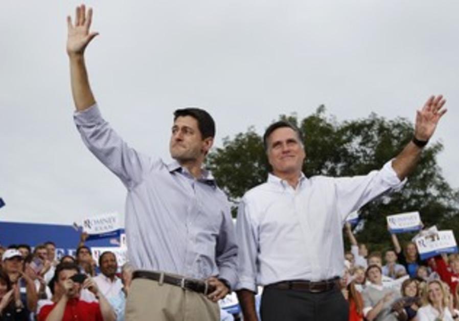 Republican presdiential ticket Romney and Ryan