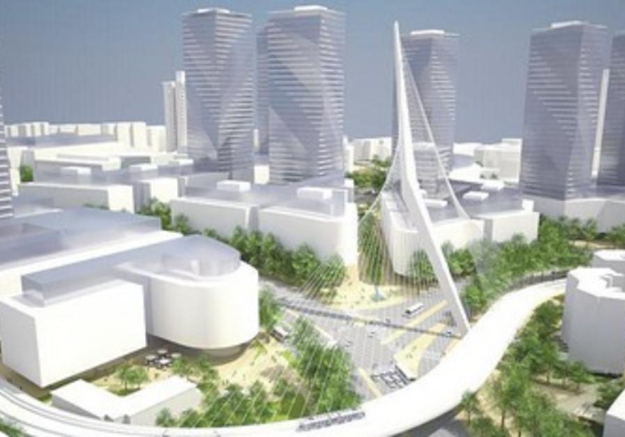 Plans for Jerusalem skyscrapers.