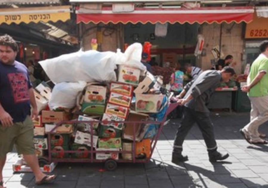 Recycling carton at Mahane Yehuda Market