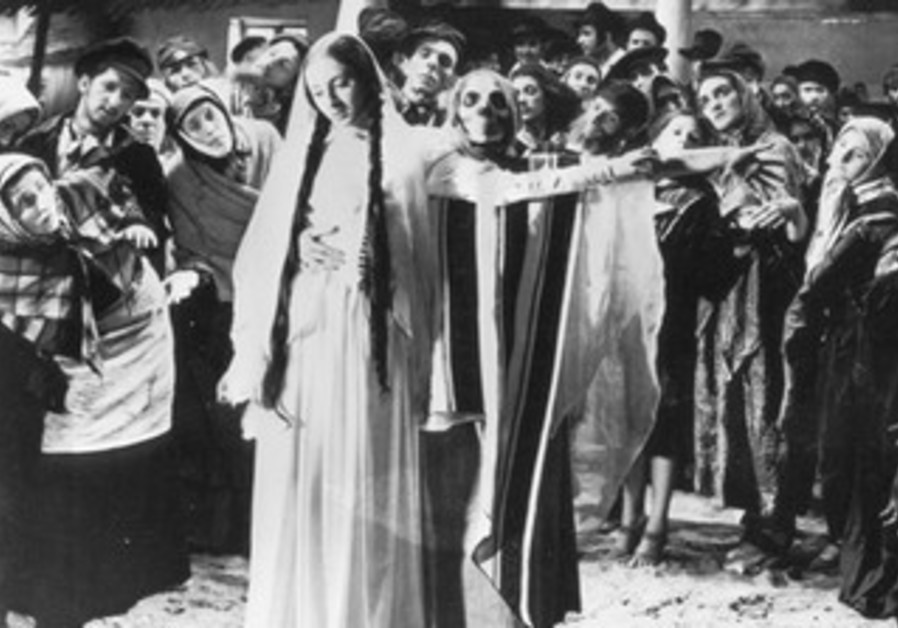 "A scene from ""The Dybbuk."""