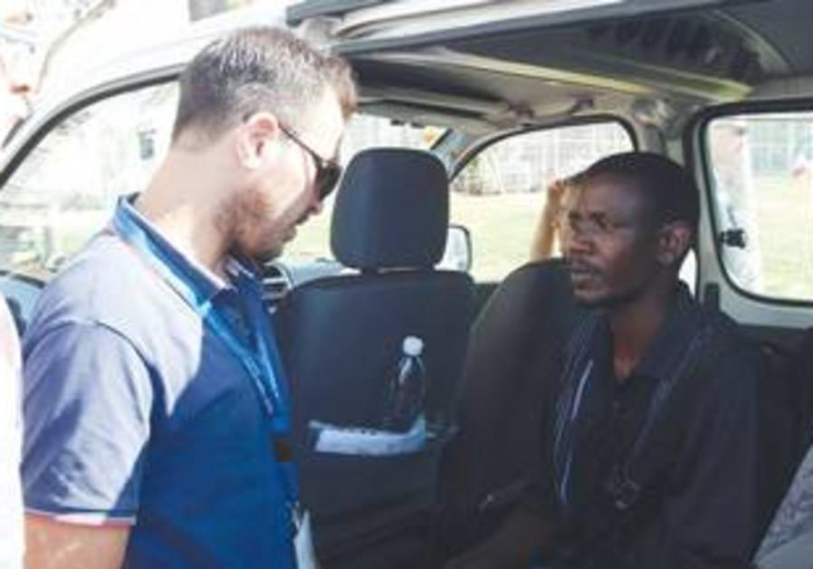 African migrant in south Tel Aviv