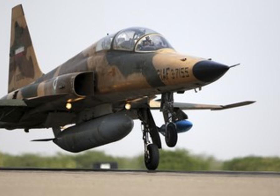 Iranian Air Force F-5F fighter plan [illustrative]