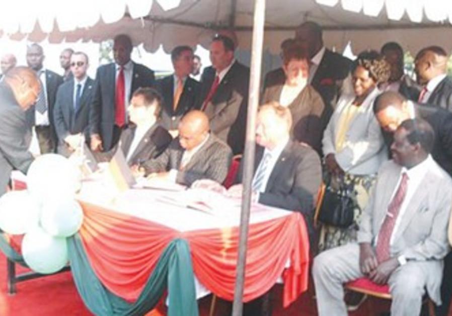 Israel, Kenya, Germany sign fishing agreement.