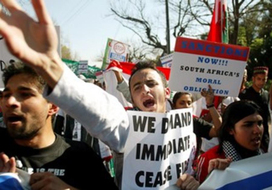 Anti-Israel protestors in South Africa