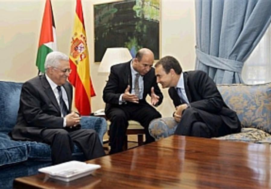 abbas with spanish pm zapatero 298 ap