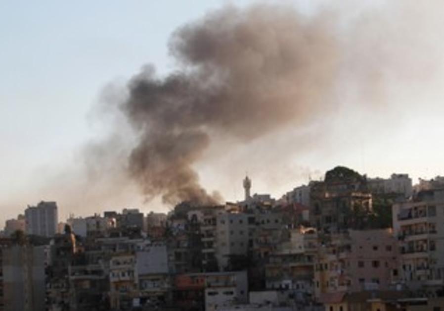 Smoke rises in Lebanon's Tripoli