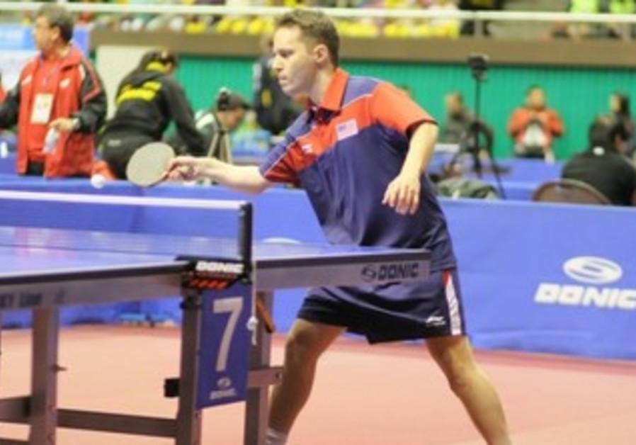 Israeli-born table tennis player Tahl Leibovitz