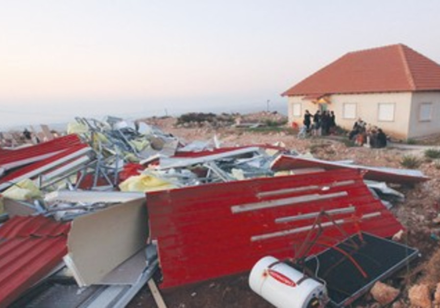 Demolition of houses in Migron 2011