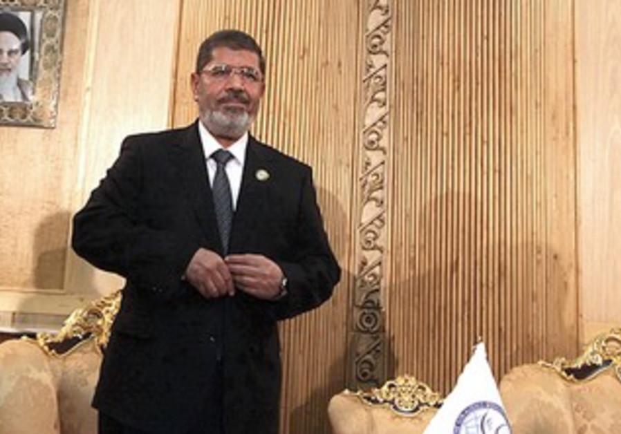 Egypt's President Mohamed Morsy in Tehran
