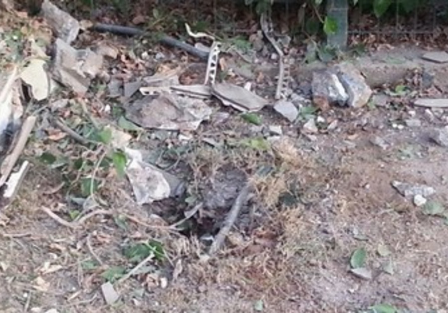 Remains of rocket that hit southern Israel