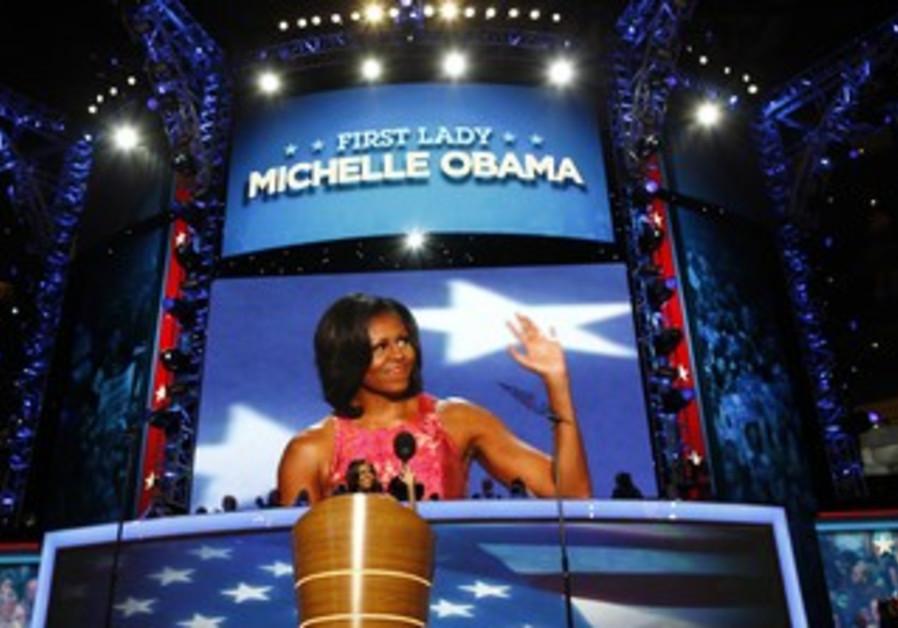 Michelle Obama speaks at Democratic convention