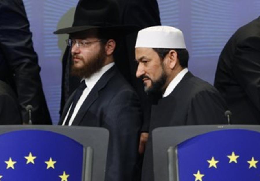 A rabbi and imam at the EUC [illustrative]