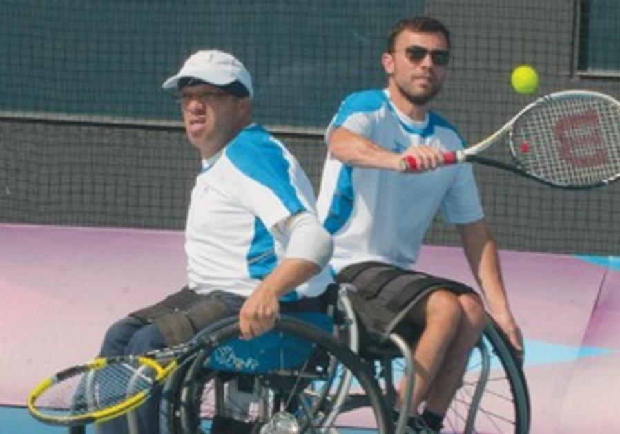 NOAM GERSHONY (in sunglasses) and Shraga Weinberg