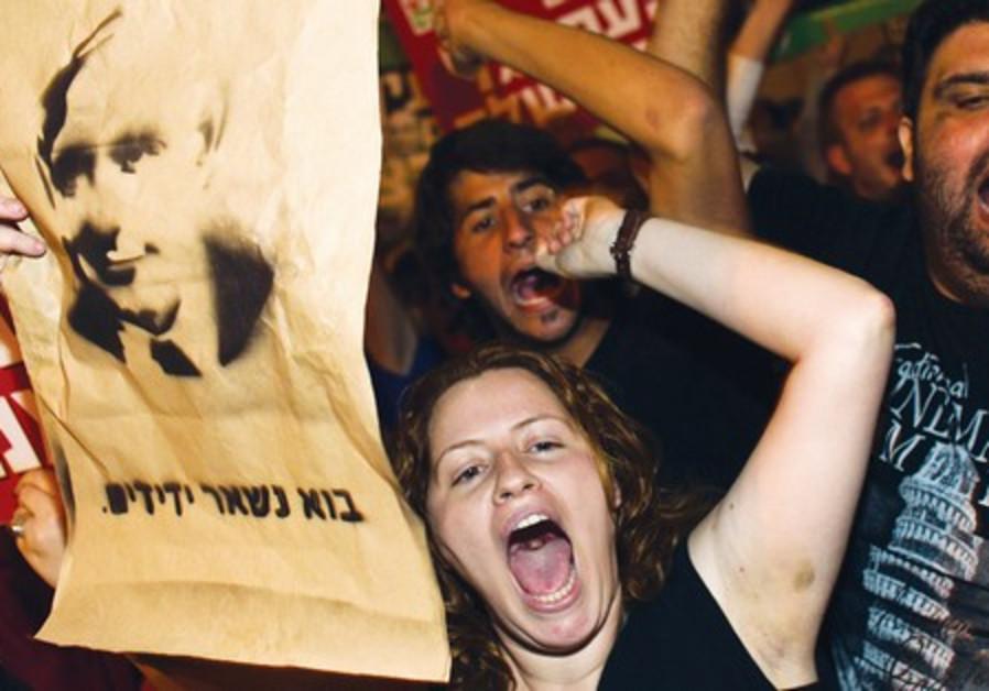 Daphni Leef at social protest.